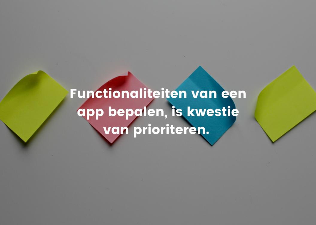 functionaliteiten app bepalen